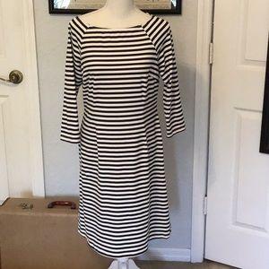 Blk/white striped J.McLaughlin dress